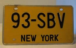 AUTÉNTICA MATRÍCULA DE NEW YORK AÑOS 70 - Kennzeichen & Nummernschilder