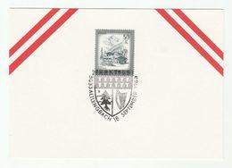 1988 AUSTRIA EVENT COVER Card ALTENGBACH MARKTFEST , HARP, TREE Arms Heraldic Music - Music
