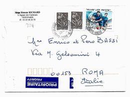 EDB334 - FRANCIA , Lettera Viaggiata. Rugby - Francia