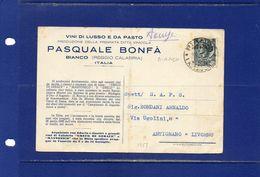 ##(DAN183)- BIANCO(REGGIO CALABRIA)--1957--VINO--UVA--PASQUALE BONFA'--VINI DI LUSSO E DA PASTO - Italia