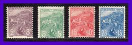 1919 - Monaco -  Sc.  B2 - B3 - B4 - B5 - MLH - MO-037 - Monaco