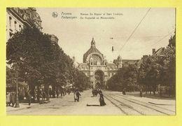 * Antwerpen - Anvers - Antwerp * (Nels, Ern Thill) Avenue De Keyser Et Gare Centrale, Animée, Keyserlei, Bahnhof Station - Antwerpen