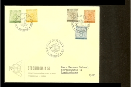 1955 - Sweden FDC - Exhibitions - Stockholmia 55 [BH052] - FDC