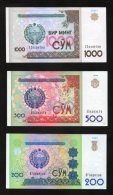 3 Banconote Uzbekistan (200-500-1000 Cym) SPL - Uzbekistan