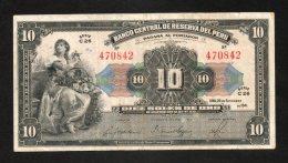 Banconota Perù 10 Soles De Oro 26/9/1941 Circolata - Perú
