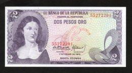 Banconota Colombia 2 Pesos Oro 1973 (FDS/UNC) - Colombia