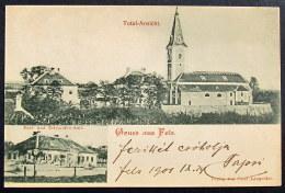 Österreich / Austria: Fels (Fels Am Wagram), Die Römisch-katholische Pfarrkirche / Post- Und Telegrafen Amt.  1901 - Autriche