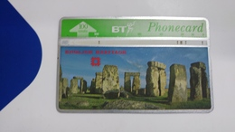 United Kingdom-(bta120)-heritage-(8)stonehenge-(100units)-(527f)-price Cataloge5.00£-card+1card Prepiad Free - BT Advertising Issues
