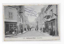 Lotmma CPA 41 Selles Sur Cher Grande Rue 1906 Port Simple Gratuit - Selles Sur Cher
