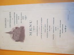 Menu/Congrès Des Catholiques De L'archiprêtré  D'EPERNAY// Choque/1908      MENU240 - Menus