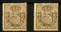 2195- Cuba Telégrafos Nº 63 - Cuba (1874-1898)