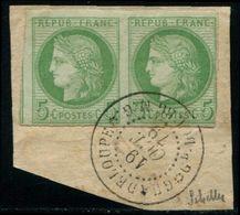 """Lot N°5179b Colonies Générales N°17 En Paire Obl """"GRAND BOURG"""" (Marie Galante) RARE TB/ST - Cérès"""