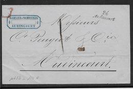 France Cursive - 24 / Audincourt - 1853 - Marcophilie (Lettres)