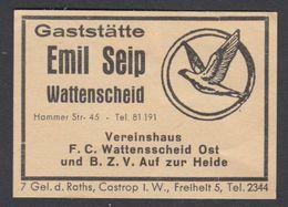 """Wattenscheid """"Emil Seip"""" Etiquette Allumettes Matchbox Label - Zündholzschachteletiketten"""