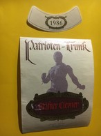 7110 - Patrioten-Trunk 1986 Stäfner Clevner (pinot Noir) - Etiquettes