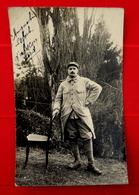 Cpa CARTE PHOTO MILITARIA GUERRE 1914 : SOLDAT AUGUSTIN LEFORT 291e REGIMENT INFANTERIE RI D' ABSCON NORD 59 - War 1914-18