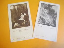 2 Menus Vierges / Peintures / Boucher , Prudhon/ Edités Par A Girard/Rue D'Alésia/Paris/ Vers 1900-1910     MENU242 - Menus
