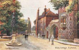 """""""Charles E. Flower. Eton College. Entrance"""" Tuck Oilette Postard # 7938 - Tuck, Raphael"""