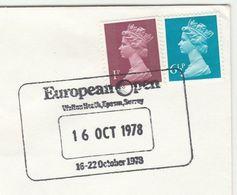 1978 Walton Heath EUROPEAN  OPEN GOLF CHAMPIONSHIP COVER Event Pmk Sport Gb Stamps - Golf