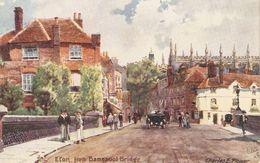 """""""Charles E. Flower. Eton From Bamspool Bridge"""" Tuck Oilette Postard # 7938 - Tuck, Raphael"""