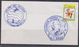 Ecuador 1990 II-Expedicion Antarctica Ecuatoriana B-I Orion Cover (37820) - Postzegels