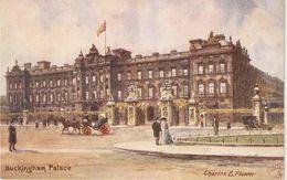 """Charles E. Flower. London. Buckingham Palace"" Tuck Oilette Postard # 7940 - Tuck, Raphael"