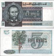 Myanmar 1973 - 5 Kyat - Pick 57 UNC - Myanmar