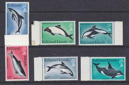 Falkland Islands 1980 Dolphins 6v (+margin) ** Mnh (37822) - Falklandeilanden
