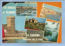 Les Sables D'Olonne (85) Tour D'Arundel Fort St-Nicolas Phare De L'Armandèche Plage De La Chaume Port 2scans 1976 Flamme - Sables D'Olonne