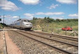 FRANCE - CPM TGV PARIS-BREST LA CHAPELLE-ANTHENAISE 53 PN 151 -24.6.1990 / 1 - Trenes