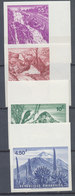 Rwanda 1966  IMPERF Waterfalls Volcanoes Mountains Cacti Cactus Birds Landscapes 4v MNH - Rwanda