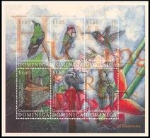 Dominica 2001 MNH 6v SS, Hummingbirds, Birds - Hummingbirds