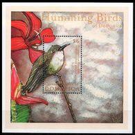 Dominica 2001 MNH MS, Birds Hummingbirds, Hispaniolan Emerald - Hummingbirds