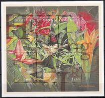 Dominica 2001 MNH SS, Birds Hummingbirds, Black-billed Streamertail, Vervain, Bahama Woodstar - Hummingbirds