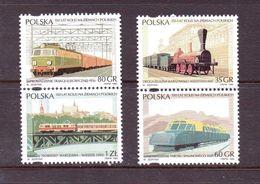 POLOGNE 1995 TRAINS  YVERT N°3333/36   NEUF MNH** - Nuovi