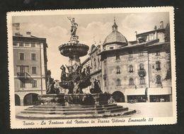 TRENTO - La Fontana Del NETTUNO In Piazza Vittorio Emanuele III ( Spedita 1941 ) - Trento