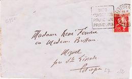 France,  De Villeneuve Sur Lot , Daguin Conserves  Pruneaux, Primeurs 1933 C 12  TB - Marcophilie (Lettres)