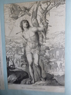 Saint Sébastien , Par Le Sodoma , Musée De Nimes , Gravure Sur Bois De Chapon , Circa 1860 - Estampes & Gravures