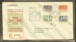 1952 - Netherlands FDC E10 Adressed - 100 Years Dutch Telegraph Service - 100 Years Dutch Stamps [R00013] - FDC