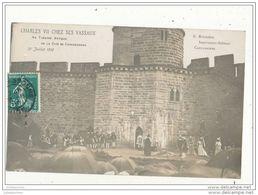 11 CARCASSONNE THEATRE CITE CHARLES 7 CHEZ SES VASSAUX CPA BON ETAT - Carcassonne