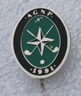 Pin's Golf . AGNP 1991 . Associação De Golf Do Norte De Portugal - Golf