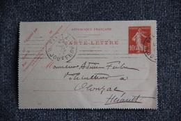 Entier Postal Sur Carte Lettre De PARIS Vers OLONZAC - Postal Stamped Stationery