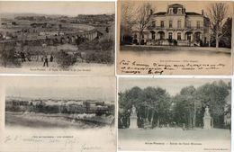 AIX EN PROVENCE - 4 CPA - Cours Mirabeau - Villa Mignet - Viaduc Du Ch. De Fer -bVue Générale    (103026) - Aix En Provence
