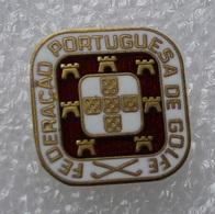 Pin's Golf . Federacao Portuguesa De Golfe . - Golf