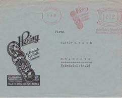 ALLEMAGNE 1939 LETTRE ILLUSTREE DE RONNEBURG  EMA THEME MAX HERING ROUES ET JANTES AUTO - Marcofilia - EMA ( Maquina De Huellas A Franquear)