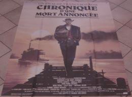 AFFICHE CINEMA ORIGINALE FILM CHRONIQUE D'UNE MORT ANNONCEE Francesco ROSI Rupert EVERETT Ornella MUTI 1987 CASARO - Manifesti & Poster