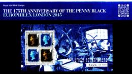 GREAT BRITAIN - 2015  PENNY BLACK MS  OVERPRINTED  MINT NH - Blocchi & Foglietti