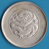 CHINA YUNNAN 50 CENTS (1911-1915) Two Circles Below Pearl Y# 257  Dragon - Chine