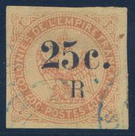 Réunion - N°4 - Aigle Surchargé - Oblitération Bleue - Belles Marges - Cote 60€ - (C106) - Réunion (1852-1975)