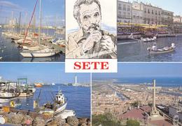 34 SETE / MULTIVUES / PORTRAIT G. BRASSENS - Sete (Cette)